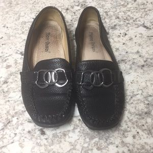 Black Leather  Pierre Dumas Loafers.